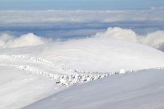 O mundo branco imenso do Jungfraujoch suíço Fotos de Stock