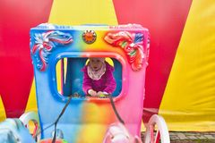 O mundo colorido do funfair Fotografia de Stock