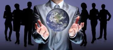 O mundo das palmas das mãos imagem de stock royalty free