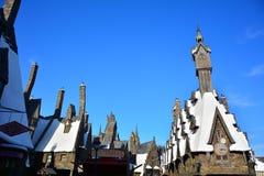 O mundo de Wizarding de Harry Potter no estúdio universal, Osaka Imagens de Stock