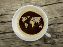 O mundo do café Fotos de Stock
