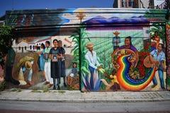 O mundo do ` s de San Francisco reconheceu as pinturas murais Balmy da aleia, 29 imagem de stock