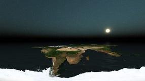 O mundo e o horizonte aberto Imagem de Stock