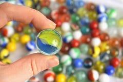 O mundo em um mármore Imagem de Stock Royalty Free