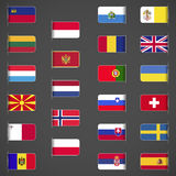 O mundo embandeira a coleção, Europa, parte 2 Imagens de Stock Royalty Free