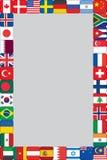 O mundo embandeira o quadro dos ícones Imagens de Stock Royalty Free