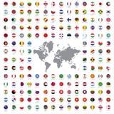 O mundo embandeira tudo Fotografia de Stock Royalty Free