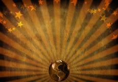 O mundo irradia Imagens de Stock Royalty Free
