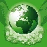 O mundo nas mãos (vetor) Imagens de Stock