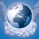 O mundo nas mãos (vetor) Imagem de Stock