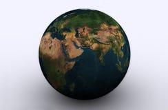 O mundo põr sobre a terra Imagem de Stock Royalty Free
