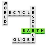 O mundo recicl ilustração royalty free