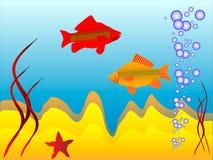 O mundo subaquático Imagens de Stock