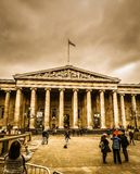 O museu, a arte e a história de Grâ Bretanha fotografia de stock