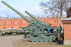 O museu da artilharia fotografia de stock