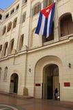 O museu da revolução com bandeira cubana foto de stock royalty free