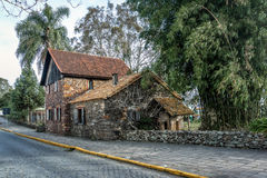 O museu de Casa de Pedra - casa de pedra do século XIX - Caxias faz Sul, Rio Grande do Sul Fotografia de Stock