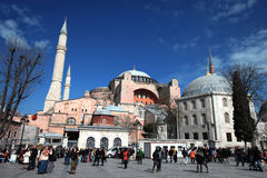 Igreja de Hagia Sopia, museu, curso Istambul Turquia Foto de Stock