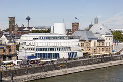 O museu do chocolate na água de Colônia, Alemanha Imagens de Stock Royalty Free