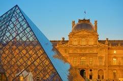 O museu do Louvre em França Imagens de Stock Royalty Free