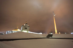 O museu do obelisco e da guerra da vitória no monte da curva (monte) de Poklonnaya, Moscou Rússia Imagem de Stock Royalty Free