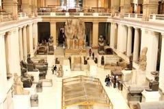 O museu egípcio do interior imagens de stock