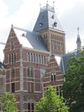 O museu famoso de Riks em Amsterdão Foto de Stock