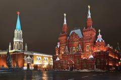 O museu histórico no quadrado vermelho, Moscovo foto de stock