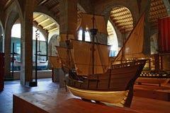 O museu marítimo em Barcelona, Catalonia, Espanha Imagem de Stock Royalty Free