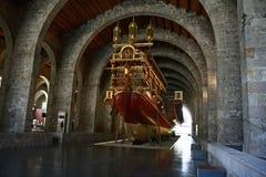 O museu marítimo em Barcelona, Catalonia, Espanha Fotos de Stock Royalty Free