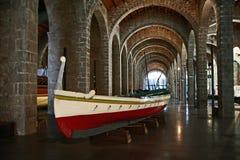 O museu marítimo em Barcelona, Catalonia, Espanha Fotografia de Stock