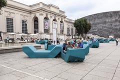 O Museumsquartier Viena Fotografia de Stock Royalty Free