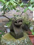 O musgo cobriu o dragão Fotografia de Stock Royalty Free