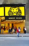 O musical de Lion King no teatro de Minskoff em New York City Fotografia de Stock