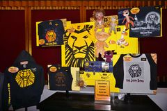 O musical de Lion King no teatro de Minskoff em New York City Imagem de Stock