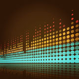 O Musical ilumina o fundo ilustração stock