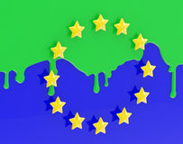 O Muslimization de Europa como a bandeira colorida da UE Imagem de Stock Royalty Free