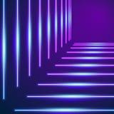 O néon brilhante alinha o fundo Ilustração do Vetor