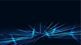 O néon de brilho brilhante de incandescência mágico cósmico azul colorido sumário da textura alinha tiras das ondas das espirais  ilustração royalty free