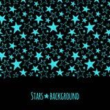 O néon stars a beira sem emenda no sentido horizontal Fotografia de Stock