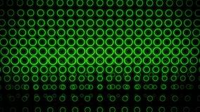 O néon verde circunda o laço abstrato do vj do fundo do movimento da parede ilustração royalty free