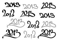 O número 2013 ilustração stock
