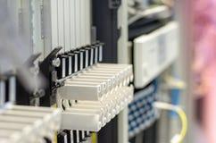 O número de equipamento do cartão na rede de telecomunicação Foto de Stock
