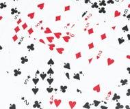 O número do cartão em uma pilha Fotografia de Stock Royalty Free