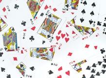 O número do cartão em uma pilha Foto de Stock