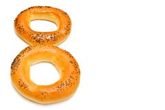 O número oito dos bagels Foto de Stock Royalty Free