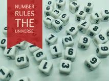 O número ordena as citações inspiradas do universo imagem de stock royalty free