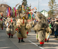 O nacional esloveno mascara a dança kurent do ` do ` Foto de Stock