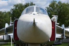 O nariz e a cabina do piloto de aviões de jato Fotografia de Stock Royalty Free