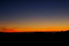 O nascer do sol bonito nas montanhas ajardina - a montanha da alegria do shan/de Hehuan Imagens de Stock Royalty Free